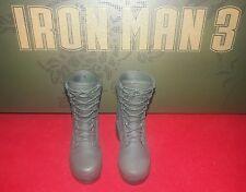 1/6 Hot Toys Iron Man 3 The Mandarin MMS211 Army Green Boots *US Seller*