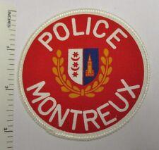 MONTREUX SWITZERLAND POLICE PATCH Printed Vintage Original SWISS