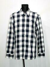 Gaastra Mens Nautical Shirt Long Sleeve Blue Regular Fit Check Cotton Size XXXL