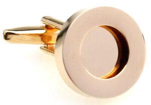 Gold Circle Cufflinks