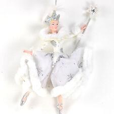 Nutcracker Ballet Snow Queen Ballerina 6.75 Inch Resin Christmas Ornament New