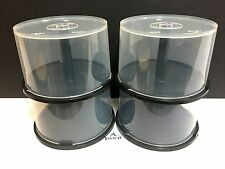 Lot of 4 - 50 Pack New Empty Spindle Cake Box Holds 50 CDs, DVDs or Blu-ray