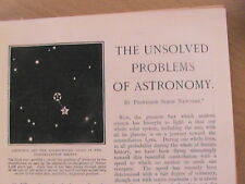 Astronomy Unsolved Problems Newcomb Moon Lunar Star Volcano Rare Articles 1899
