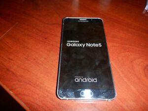 "Samsung Galaxy Note 5 SM-N920V 5.7"" Midnight Black 32GB 4G LTE Verizon $.99 NR"