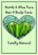 30ml Spray ORGANIC NETTLE & ALOE VERA Hair Tonic Natural thicken thin BLOCK DHT