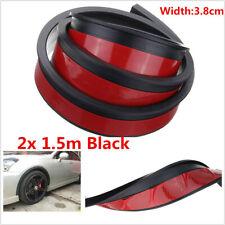 2pcs 1.5m Car Fender Flare Extension Wheel Eyebrow Moulding Trim Protector Strip
