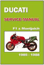 DUCATI Workshop Manual 750 F1 & Montjuich 1985 1986 1987 & 1988 Service Repair