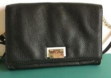 Kate Spade Black Pebbled Leather Shoulder Chain Leather Strap Bag/Purse