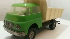 VINTAGE TRUCK TOY FRICTION TIN AND PLASTIC DUMP TRUCK GERMANY COMMUNIST ERA