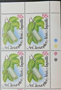 ST CHRISTOPHER, NEVIS AND ANGUILLA 1980 SG431 55c. LOCAL FLOWERS  -  MNH