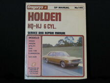 Gregory's Holden HQ - HJ 6 cyl. Service And Repair Manual. 1980. Hard Cover.