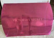 New Victoria's Secret Gift Box Shiny Solid Pink Sides Fold To Close 13�x12� Vs