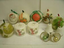 Lot of Vintage Styrofoam Ice Sugared Glitter Christmas Ornaments bells