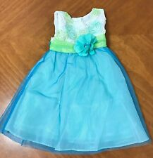 Rare Editions Baby Girl's Ribbon Applique Tulle Dress~Sz 18M~NWT