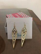 Premier Designs Gold Dangle Stella Earrings New!