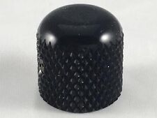 "Black Dome Knob for Tele - Fits 1/4"" Solid Shaft Pots on Telecaster or J. Bass"
