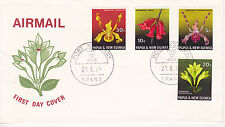 PAPUA NEW GUINEA FIRST DAY COVER 1969 ORCHIDS SCOTT #287-290 FLOWERS PLANTS
