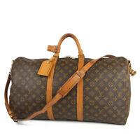 Auth LOUIS VUITTON Vintage Monogram Keepall Bandouliere 55 Travel Bag 12488bkac
