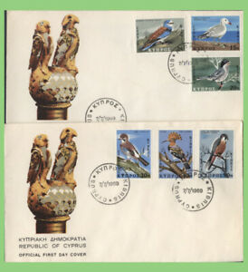 Cyprus 1969 Birds set on two First Day Covers