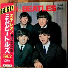 With The Beatles Japan RED LP LTd Ed With Vol 2  Obi Rare! ODEON OP-7549 EX ++