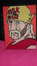 wwe hulk hogan hand painted wwf canvas 30x40cm