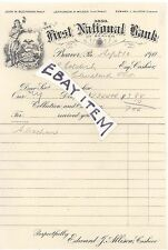 1905 Beaver Pennsylvania NATIONAL BANK charter 3850 Buchanan Wilson Allison BHD