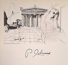 PAUL DELVAUX HAND SIGNED SIGNATURE * PENELOPE, STUDIE * PRINT