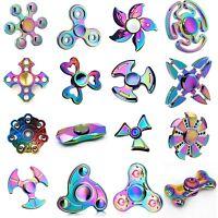 Fidget Spinner Rainbow Colour Color Collection Hand Spinner EDC ADHD 3D Focus