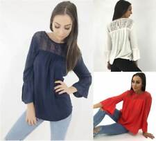Ex DOROTHY PERKINS Womens Trumpet Sleeves Blouse Tunic Top Shirt Party Summer UK