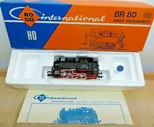 Roco 04114 A H0 Tender Steam Locomotive Br 80 028 D. DB Unrecorded Tested Boxed