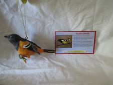 Danbury Mint The Songbird Christmas Ornaments - Scott's Oriole