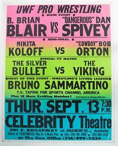 Vintage 1990 Herb Abram's UWF Wrestling Event Poster