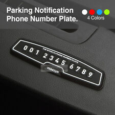 Car Accessory Phone Number Plate Sterlth Parking Notification for All Vehicle