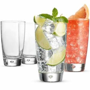 Drinking Glasses- 15 Ounce glass (Set of 4) Mojito Glasses for Wate, Beer, Wine