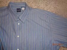 Men's long sleeve button shirt by GAP XL  blue