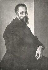 D0273 Michelangelo Buonarroti - Stampa d'epoca - 1928 old print