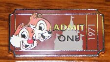 Disney Official Trading Pin Limited Release 2011 Admit One 1971 Chip & Dale Pin!