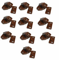 10 x Brown Roller Catches For Caravan Motorhome Boat Cupboard Door Catch Locker