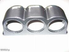 ~ Nuevo ~ aspecto de carbono Triple Calibre Pod (para 52mm manómetros)