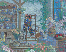 "John Powell ""Interior with Chair"" Serigraph Signed Numbered Framed"