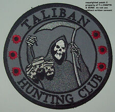 TALIBAN HUNTING CLUB DEATH REAPER HEAD HUNTER Hook MORALE MILITARY PATCH SWAT