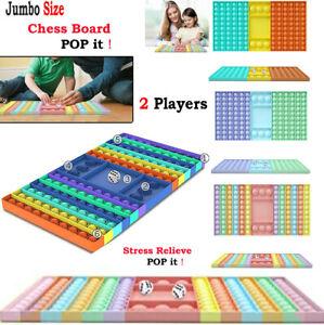 Big Pop Game Fidget Toy Rainbow Chess Board Bubble Push Pop Fidget Sensory Toys