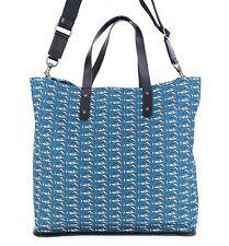 NWT $1300 DOLCE & GABBANA Mens Blue Cotton Leather Gym Travel Shoulder Hand Bag
