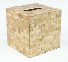 Gold Shell Cube Tissue Box Cover
