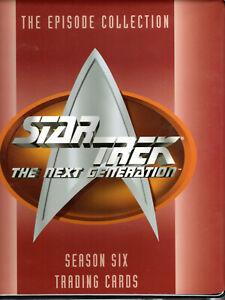 STAR TREK 1997 SKYBOX THE NEXT GENERATION SEASON 6 FACTORY BINDER ONLY-NO CARDS