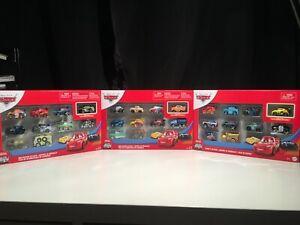 Disney Pixar Cars Mini Racers New 2020 Variety 10 pack Set of 3 *Ships Worldwide