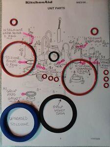 KitchenAid Artisan 5KES100 16x O Ring Full Service kit + Silicone Group Gasket
