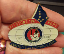 Kiwanis Pin - Keystone Kops 1997 University Club Anchorage Alaska We Build Pin
