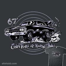 SUPERNATURAL Sam Dean Winchester 67 Impala Baby Hunters Bros Mens T-Shirt M-2XL