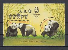 Österreich Block Bl.18 postfrisch AUFDRUCK OLYMPIA BEIJING 2008 (957) PANDA